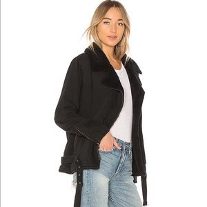 Bella Dahl Moto Jacket in Vintage Black